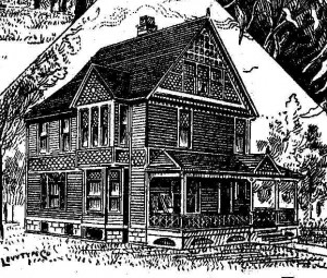 Drawing of Guyer House published 1888