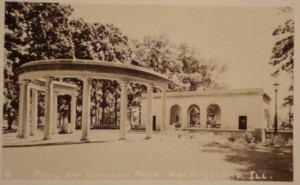 Early View of Pool House and Peristyle from the North