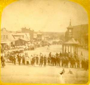 Stereoview of Market Square 1870s